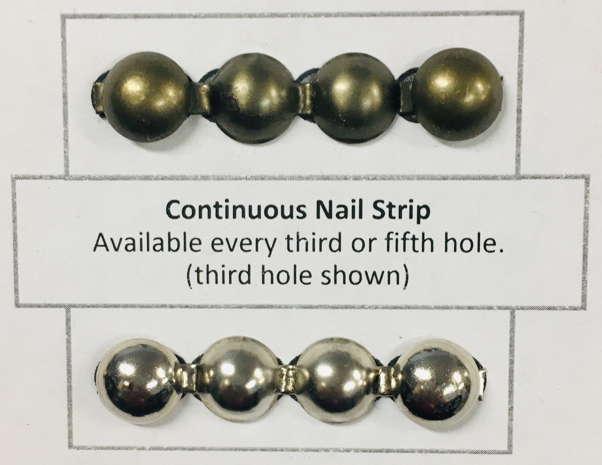 Continuous Nail Strip - Pewter